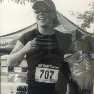 My first triathlon.  I did it!