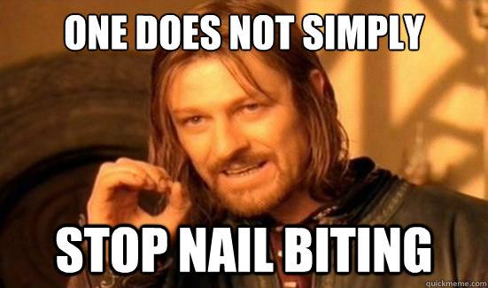 nail biting meme
